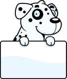 Cartoon Dalmatian Sign Royalty Free Stock Images