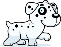 Cartoon Dalmatian Walking Royalty Free Stock Photography