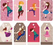 Cartoon dancer card Royalty Free Stock Images