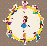 Cartoon dancer card Royalty Free Stock Photo
