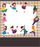 Cartoon dancer card Stock Photography