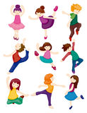 Cartoon dancer set Royalty Free Stock Photography