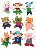 Cartoon dancing animal Stock Images