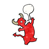Cartoon dancing devil Royalty Free Stock Photography