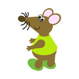 Cartoon of a Dancing Mouse Stock Images