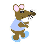 Cartoon of a Dancing Mouse Stock Photos