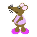 Cartoon of a Dancing Mouse Royalty Free Stock Images