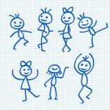 Cartoon Dancing People Stock Photos
