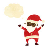 Cartoon dancing santa with thought bubble Stock Photo