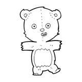 Cartoon dancing teddy bear Stock Photos