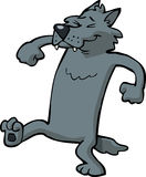 Cartoon dancing wolf Stock Photo