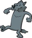 Cartoon dancing wolf Stock Photo