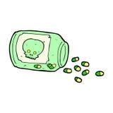 Cartoon dangerous pills Stock Image