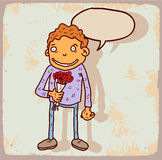 Cartoon date illustration , vector icon. Stock Photography