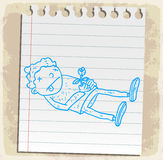 Cartoon  dead on paper note, vector illustration Royalty Free Stock Photography