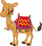 Cartoon decorated camel Royalty Free Stock Photo