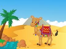 Cartoon decorated camel Stock Photos
