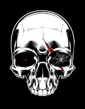 Cartoon decorative human skull. Vector illustration. Stock Photography