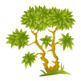 Cartoon Decorative Tree Stock Photography
