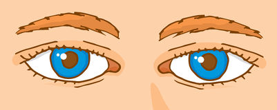 Cartoon deep close up look Royalty Free Stock Photography
