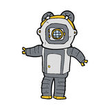 Cartoon deep sea diver Royalty Free Stock Photography