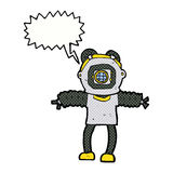 Cartoon deep sea diver with speech bubble Royalty Free Stock Images