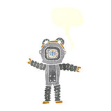 Cartoon deep sea diver with speech bubble Stock Images
