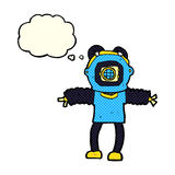 Cartoon deep sea diver with thought bubble Royalty Free Stock Photography