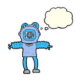 Cartoon deep sea diver with thought bubble Royalty Free Stock Photos