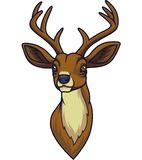Cartoon deer head mascot stock illustration