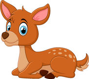 Cartoon Deer Laying Down Royalty Free Stock Photography