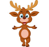 Cartoon deer presenting Stock Images