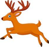 Cartoon deer running Stock Photography