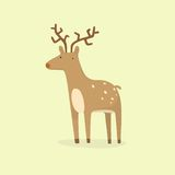 Cartoon deer. Vector EPS 10 hand drawn illustration Royalty Free Stock Images