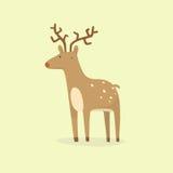 Cartoon deer. Vector EPS 10 hand drawn illustration vector illustration
