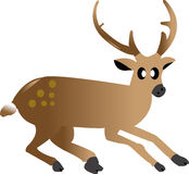 Cartoon a deer on white ground Stock Image