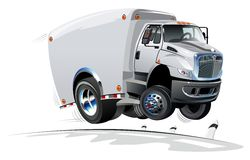 Cartoon delivery / cargo truck Royalty Free Stock Image