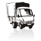 Cartoon delivery / cargo truck Stock Photos
