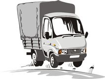 Cartoon delivery / cargo truck Royalty Free Stock Photography