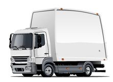 Cartoon delivery or cargo truck Royalty Free Stock Photos