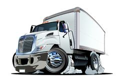 Cartoon delivery or cargo truck Royalty Free Stock Images
