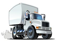 Cartoon delivery cargo truck Royalty Free Stock Photos