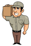 Cartoon delivery man royalty free illustration