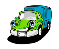Cartoon delivery truck Royalty Free Stock Image