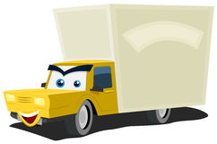 Cartoon Delivery Truck Character Stock Image