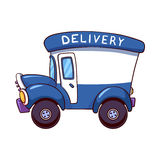 Cartoon delivery truck Stock Images