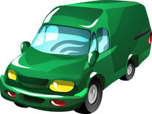 Cartoon delivery van Stock Photography