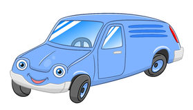 Cartoon delivery van. Cartoon cute delivery van isolated on white background Stock Photo