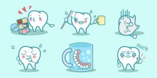 Cartoon dental health concept Royalty Free Stock Photography