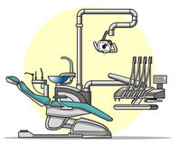 Cartoon Dentist chair. The usual modern dentist chair Royalty Free Stock Image